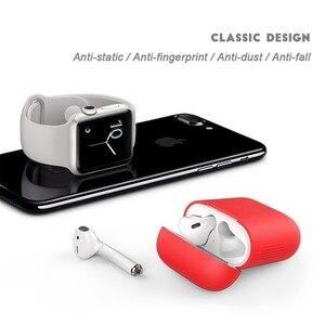 Image 5 - Funda de auriculares para Apple Airpods, funda protectora para Airpods, funda de silicona transparente para Airpods 2, funda dura para Airpods 2
