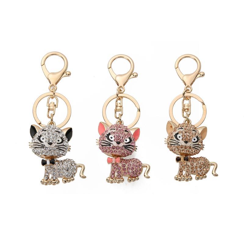 Fashion Cat Kitten Keyring Charm Pendant Bag Key-Chain Handbag Gift Suit for Bag Car KeyPendanant