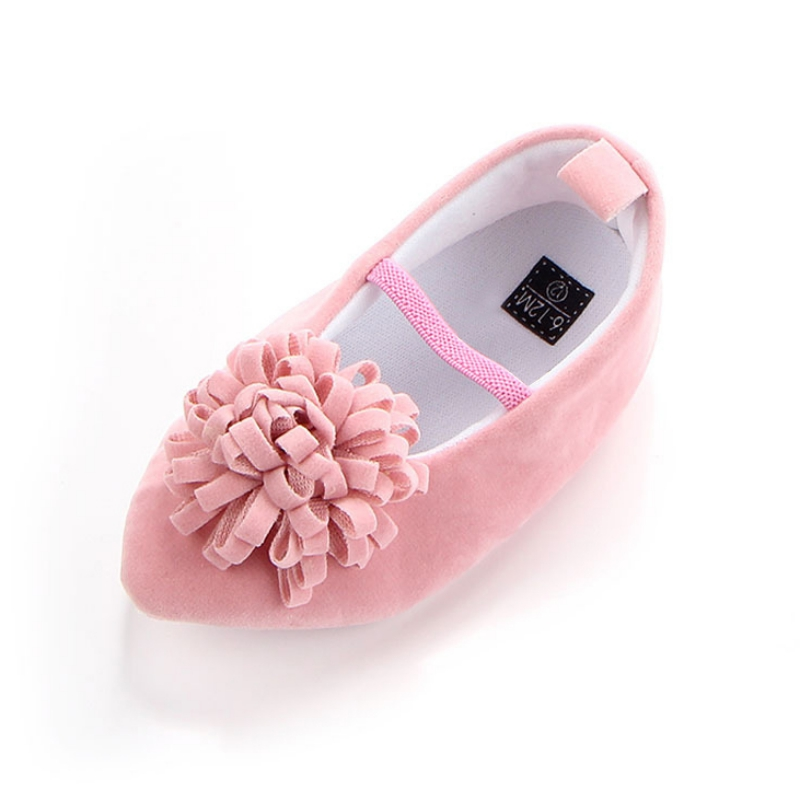 Baby Girls Bow Leather First Walkers Shoes Soft Soled Non-slip Footwear Crib Lace-up Shoes Pointed Stamens Cute Shoes M1