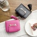 Hot Coreano Mulheres Gato Borla Curto Carteiras Senhoras Carteira Pequena Hasp Zipper Coin Bolsas Cartão Bolsa Da Moeda Fêmea Dinheiro Bonito saco