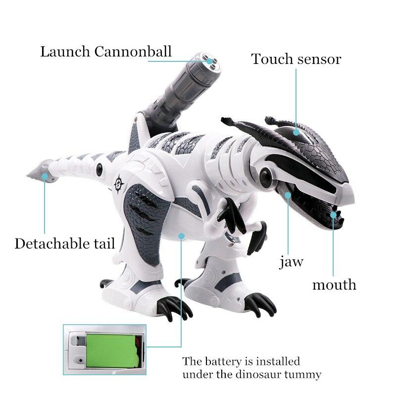 Dinosaure robots marche dinosaures électronique dinosaurio jouets interactive à distance jouets Interactifs Robots jouet robot rc - 3