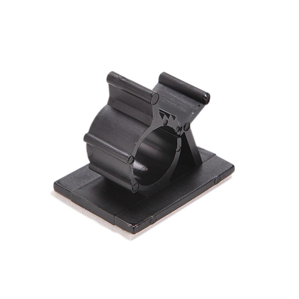 10pcs /pack Black practical Adhesive Backed Nylon Wire Adjustable ...