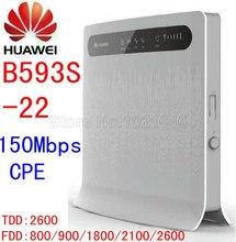 Entsperren router huawei b593s-22 150 mbps 4g lte cpe mifi wifi router 4g lte Wifi Mobile dongle pk b593 b880 b890 e5172 e960