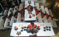 VGA OUTPUT 2 Players Iron Arcade Controller Box With 645 In 1 Mutli Game Board Home
