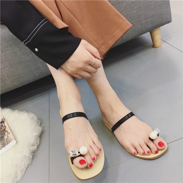 Women Bling Metallic Flats Slippers Slides Mule Shoes Summer Home Beach Sandal#1
