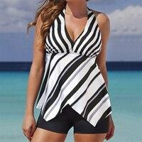 נשים בתוספת גודל חדש בגד ים בגדי ים וחוף של הדפס פרחוני נשים שתי חתיכות Tankini בגדי ים כוס גדולה XXL 3XL
