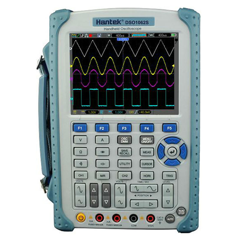 Hantek Digital Isolated Oscilloscope 2CH 60-200MHz Bandwidth Oscilloscope + 6000 counts DMM analog barograph multimeter цена