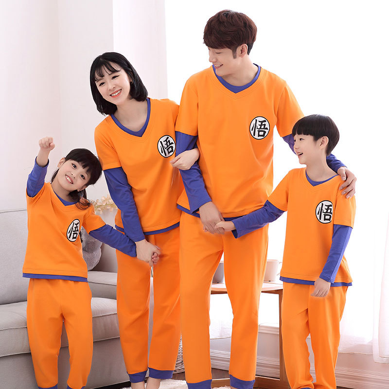 Dragon Ball Matching Family Christmas Pajamas Clothing Winter Mommy And Baby Mini Me Clothes Couple Outfits Adult Baby Son Shirt