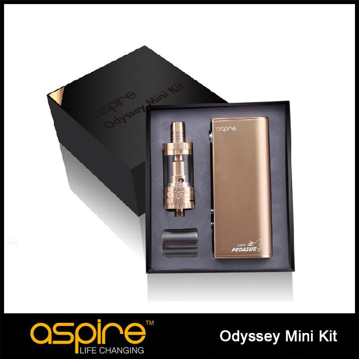Original Aspire Odyssey Mini Kit with Triton Mini Atomizer and Pegasus Mini 50W 18650 Mod E Cigarette Starter Kit Temp Control original ijoy captain pd1865 tc 225w kit captain tank 4ml atomizer no 18650 battery captain pd1865 mod e cigarette vaping kit