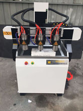 mini lathe /cnc router 6090 4 axis many heads four spindle