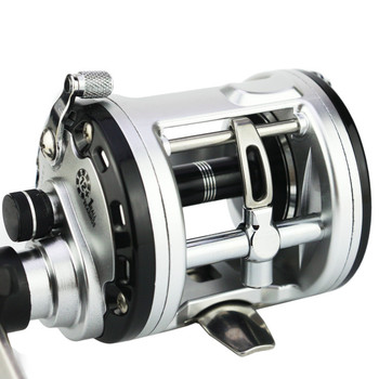 цена на Fishing reel YUMOSHI JCA200/300/400/500 Cast Drum Wheel 12+1 Ball Bearings Bait Casting Fishing Reel Carretilhas Fishing gear
