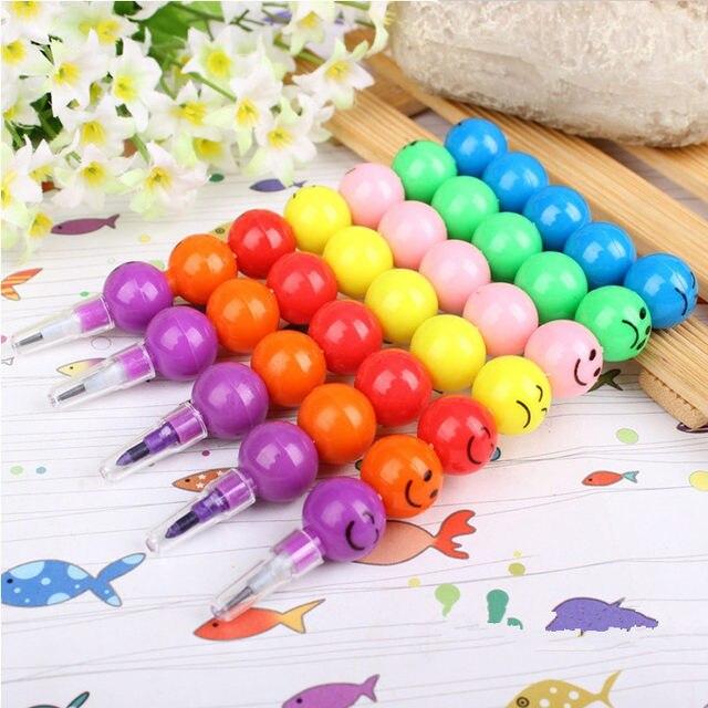 online shop 200 pcs smiley cartoon colored pencil wholesale rainbow