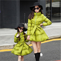 Christmas Kids Down Jacket Family Clothing Girls Winter Clothes Children's Cotton Down Coat Matching Mother Daughter Clothes