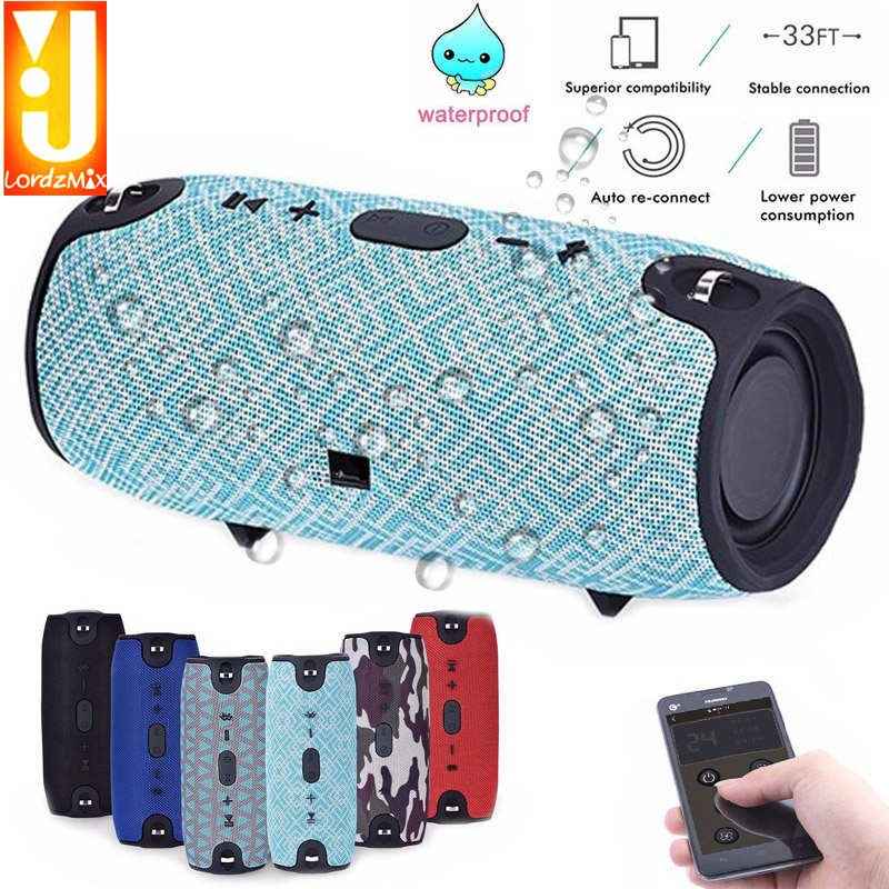 Portable Wireless Bluetooth Speaker Outdoor Column Sound Stereo audio box sport Music Speaker with FM TF LORDZMIX for phone