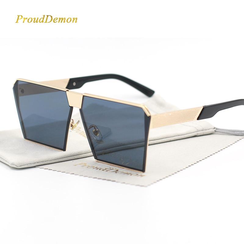 Modemarke Designer Platz Flache linse Sonnenbrille Spiegel Frauen - Bekleidungszubehör - Foto 2