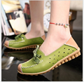 spring/summer women Genuine Leather Mother shoes everyday casual shoes hollow out leather soft bottom comfortable flat shoes