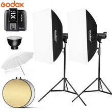 800Ws Godox SK400 II 2x 400Ws 220V Photo Studio Flash Lighting,Softbox,280cm Light Stand,soft umbrella,Flash built-in Receivers photography studio soft box flash lighting kits 900w 220v storbe light softbox light stand umbrella trigger receiver set