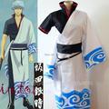Venda quente Japonês anime Gintama sakata gintoki figura traje cosplay trajes de halloween