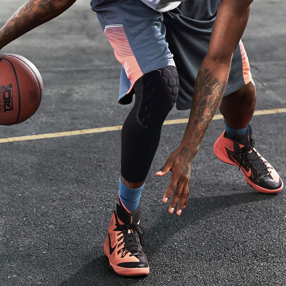 KM/_ Bumper Crashproof Sports Football Basketball Sleeve Knee Pads Stylish
