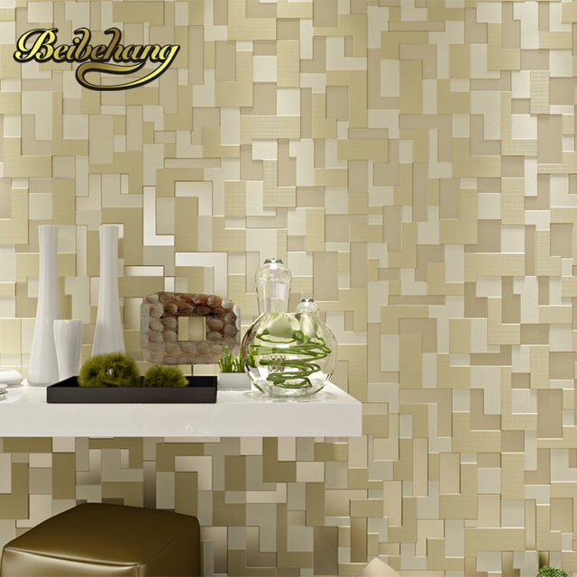 Beibehang Modern 3D Mural Fashion Designer TV Background Bedroom Wall  Stickers Home Decor Decal Brick Wallpaper