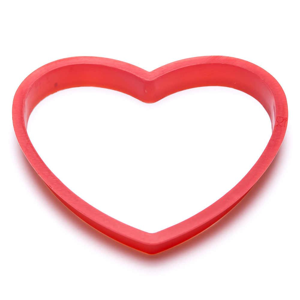 6 pçs/set plástico Em Forma de Coração molde Do Bolo cortador de biscoitos Fondant biscoito stamp Artesanato decorações do bolo de Moldes Ferramentas de Cozimento de Açúcar