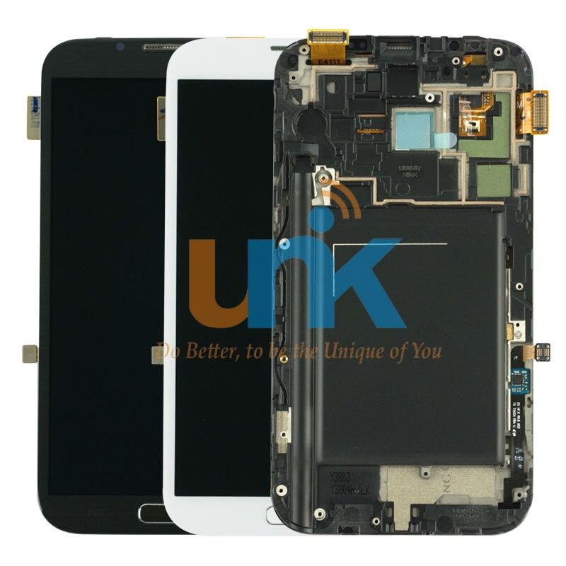 100% probado original teléfono móvil lcd de pantalla para samsung galaxy note 2