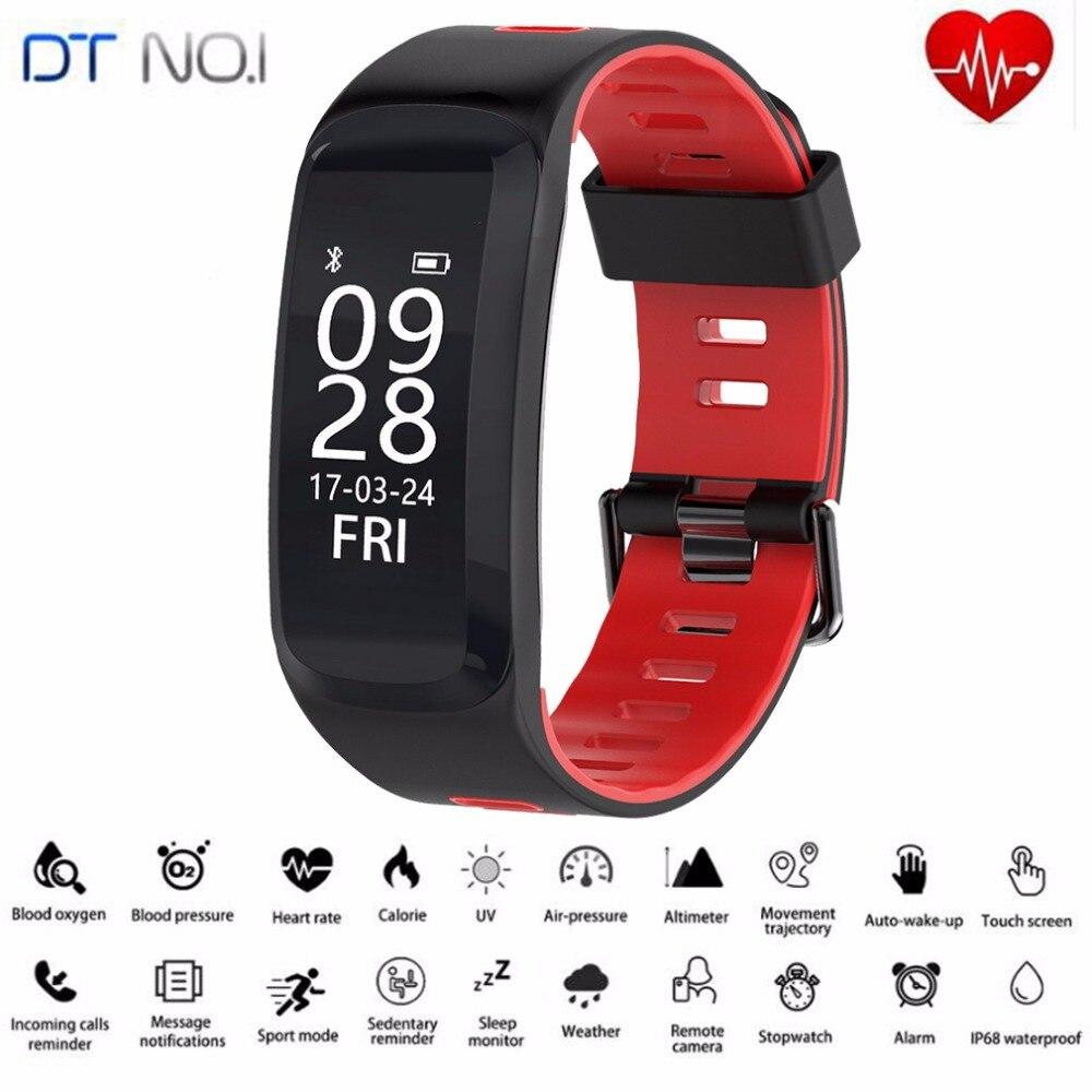 D'origine N ° 1 F4 Smart Bracelet IP68 La Pression Artérielle D'oxygène Fréquence Cardiaque Bluetooth4.0 Sport Remise En Forme Bracelet Pour IOS Android