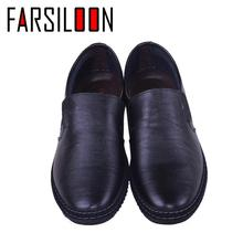 Genuine Leather Shoes Men Thick Non-slip Footwear Fashion Sole Brand Loafers High Quality Male Cowhide Men's Casual Shoes NP011