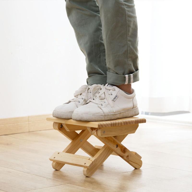 Image 4 - Vanzlife pliable bois massif tabouret chaise portable train pliable tabouret adulte organisateur petite chaise banc pliant-in Tabourets et poufs from Meubles on AliExpress