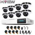 2016 Новый 8-канальный AHD Камеры Системы 2.0MP Открытый Купол 8 канал 1080 P HD DVR Kit 8-канальный Видеонаблюдения CCTV Камеры система