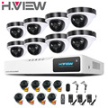 2016 New 8Ch AHD Camera System 2.0MP Outdoor Dome 8 Channel 1080P HD DVR Kit 8Ch Surveillance Security CCTV Camera System