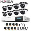 2016 Novo Sistema de Câmera 2.0MP 8Ch AHD Dome Ao Ar Livre 8 canal 1080 P HD DVR Kit De Vigilância 8Ch Câmera de Segurança CCTV sistema