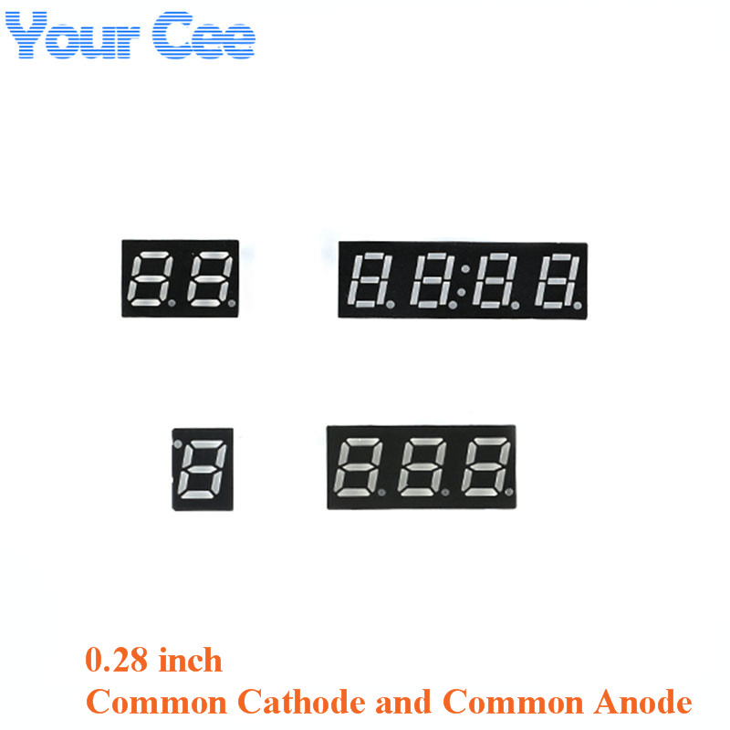 10pcs 0.28 Inch Display Clock Digital Tube Common Cathode Common Anode Module 0.28