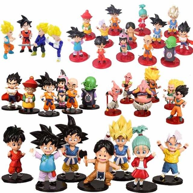 13 pçs/lote 11 centímetros Dragon Ball Super Saiyan Goku Vegeta Frieza Whis Beerus Zamasu Frieza Define Figuras de Ação Brinquedos Modelo