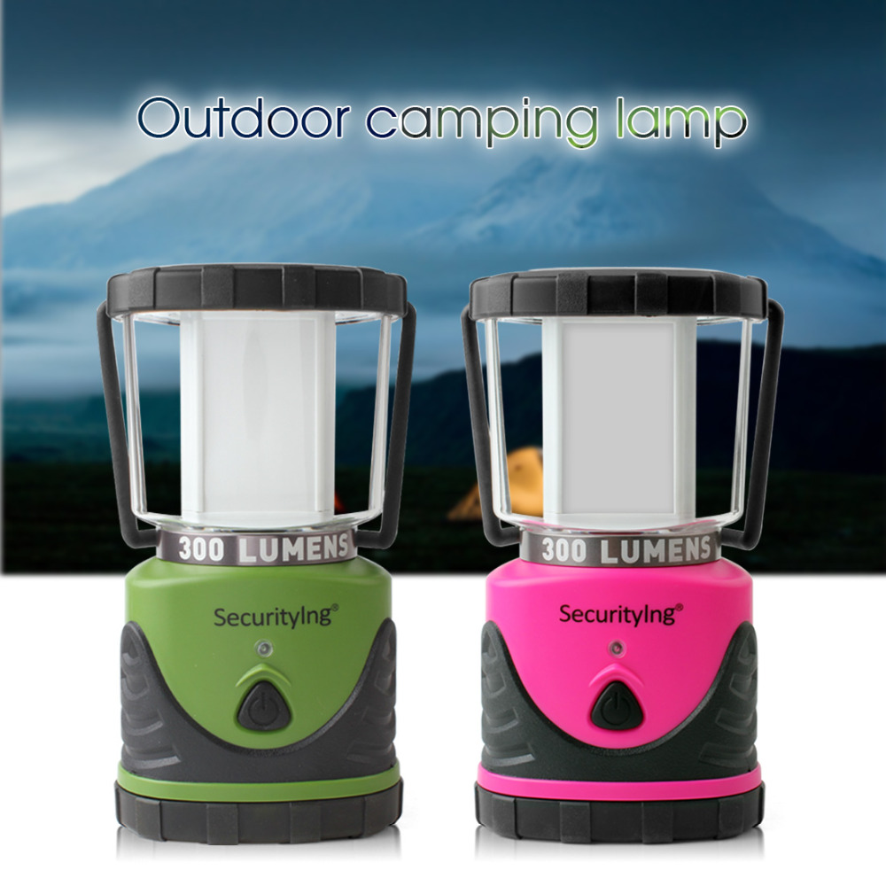 SecurityIng Outdoor LED Camping Light Ultra Bright Waterproof Hanging Tent Lamp for Hiking Fishing Emergencies Portable Lantern