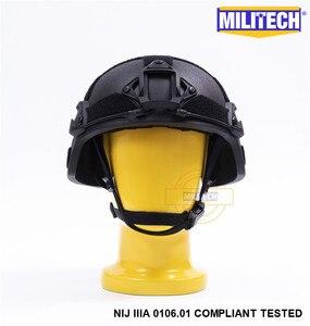 Image 2 - Militech preto bk mich nij nível iiia 3a tactical twaron capacete à prova de balas ach arco occ dial forro aramida capacete balístico selo