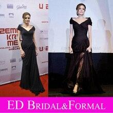 Angelina Jolie Schwarz Kleid zu Land von Blut und Honig Sarajevo Premiere Roter Teppich Promi Abendkleid Abendkleid