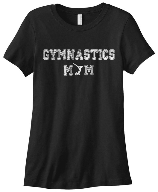 27a9f2cf830 Women s Gymnastics Mom T-shirt Gymnast Handstand Women Funny Shirts Cotton Tops  Shirt Plus Size Women Tops Tees Plus Size
