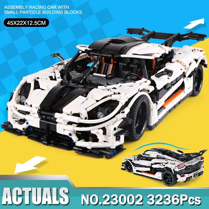 23002 Koenigsegg Technic Super Car Buidling Blocks Bricks 3063Pcs 13120 Toys