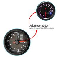 52MM 2 Inch Dual Display 12V 0 10000RPM Universal Car Tachometer 7 Color Backlight NPT 1/8 for Car Vehicle Auto