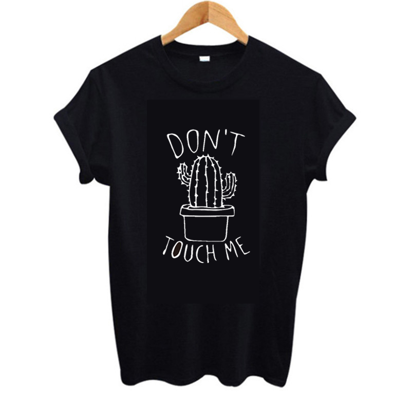 2019 new summer cactus don t touch me print t shirt women cotton Short sleeve top graphic Fashion casual female clothes Harajuku