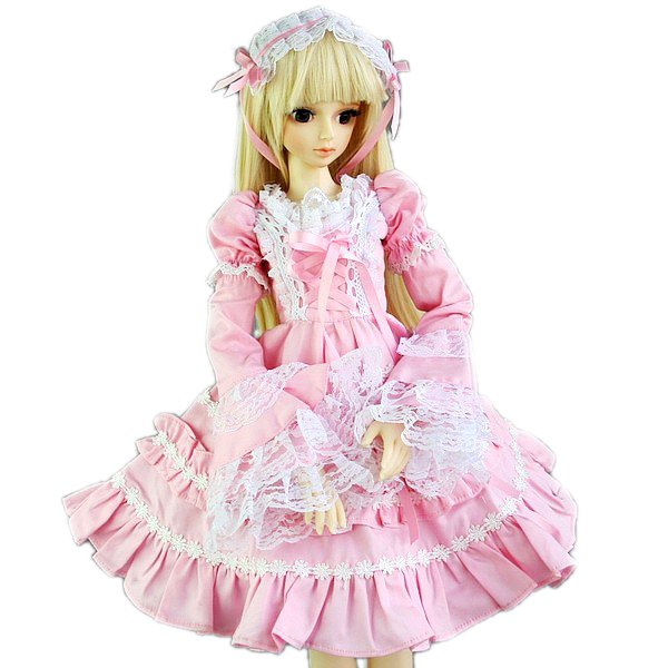 [wamami] 140# Pink Lace Dress/Clothes 1/3 SD DZ DOD AOD BJD Doll Dollfie [wamami] 649 england style coat suit outfit clothes for 1 3 sd dz dod boy bjd