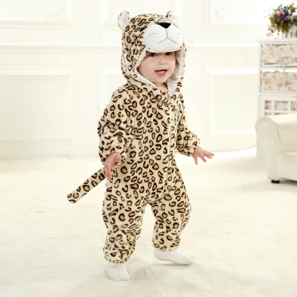 Flannel Baby Animal Costume Toddlers/' Fancy Dress Romper Jumpsuit Coverall