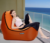 Inflatable Air Lounger Outdoor Lounge Sofa Chair Camping Beach Chairs Travel Hiking Fishing Equipment Couch Air Hammock Lay Bag