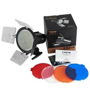 Image 5 - Yongnuo Luz LED bicolor para vídeo, iluminación de relleno con 4 filtros de color, YN 216 para cámara DV DSLR Canon Nikon, YN216 5500K/3200 5500K