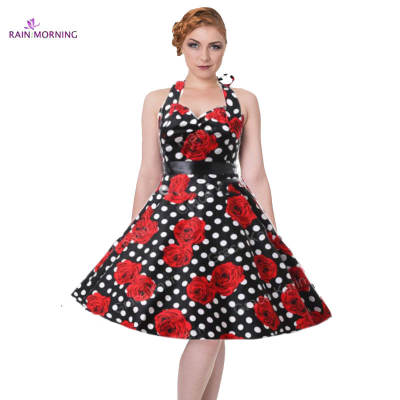 vintage dress rockabilly hepburn casual robe