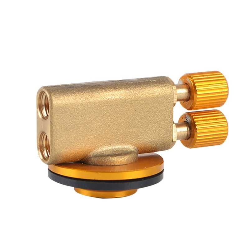 Metallo Gas di Ricarica Esterno Adattatore Universale A Doppia Testa Valvole Connettore Pratico Stufa Serbatoio Cilindro di Accessori