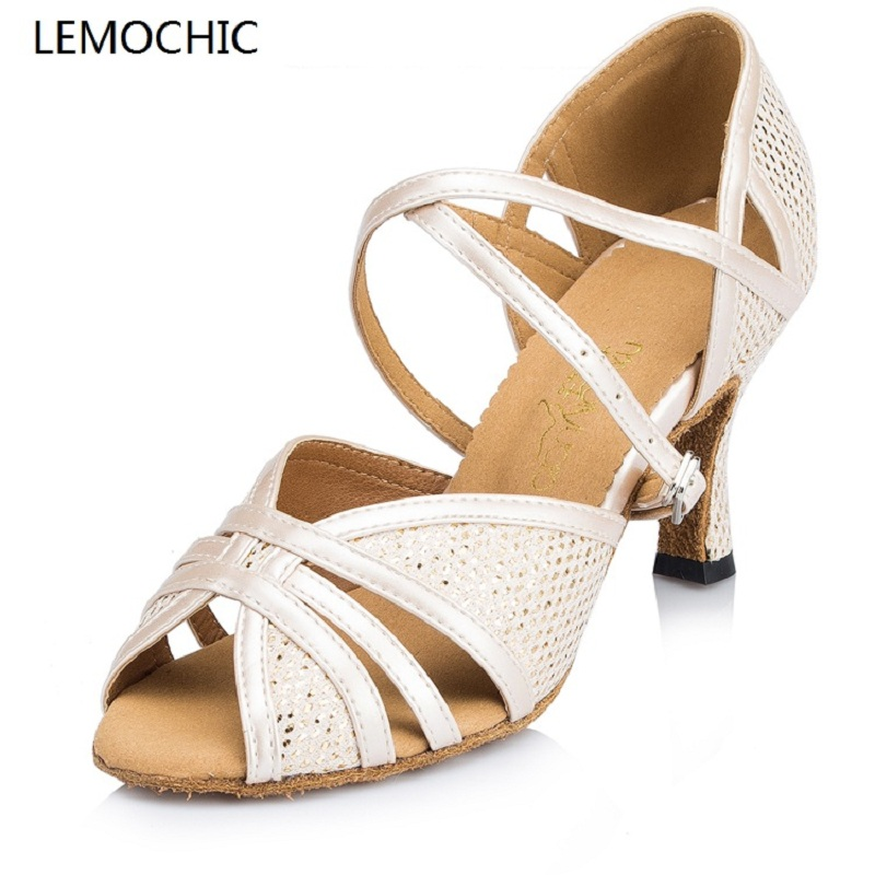 LEMOCHIC ladies best seller genuine leather rumba samba latin tango bally jazz cha cha pole salsa ballroom pointe dancing shoes lemochic hot sale women salsa cha cha double steps latin tango pole dancing performance arena classical professional dance shoes