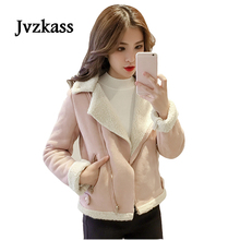 Jvzkass 2018 new autumn and winter deerskin jacket female clothing students wild small short lamb hair Z260