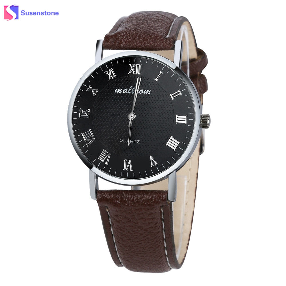 Luxury Brand New Men Watch Faux Leather Quartz Analog Watch Fashion Male Clock Roman Numberals Business Watches Cheap Hot Sale hot sale luminous men watch luxury brand watches quartz clock fashion leather belts watch cheap sports wristwatch relogio male